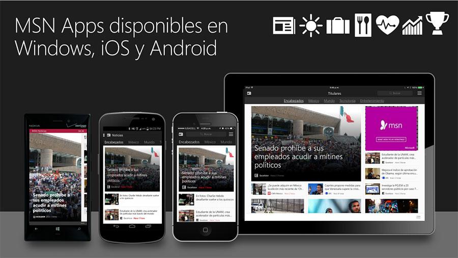 Nuevas MSN Apps diseñadas para cualquier pantalla