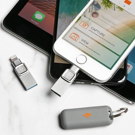 Soluciona tus problemas de espacio en el iPhone con el Bolt Duo