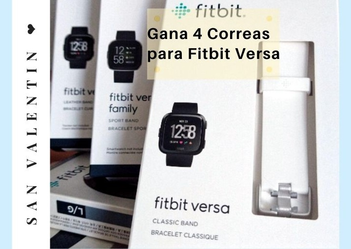Gana correas para tu Fitbit Versa ❤️