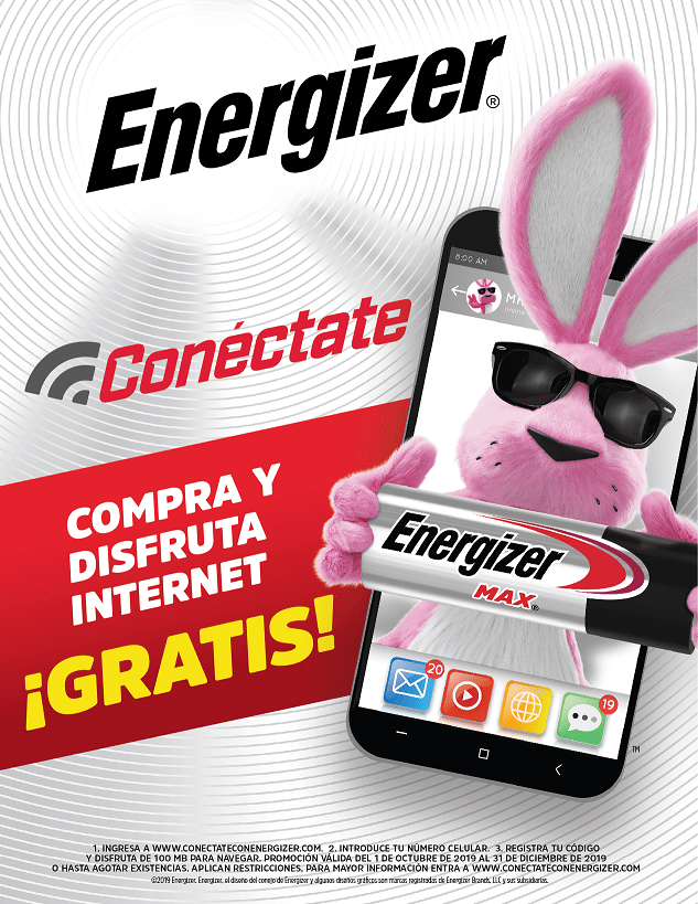 Ponte las pilas y gana 100 megas para tu celular con Energizer